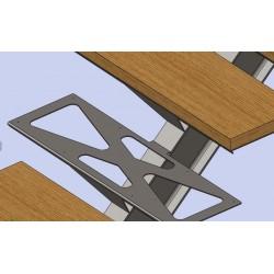 Marche d'escalier métal tôle pliée ajourée